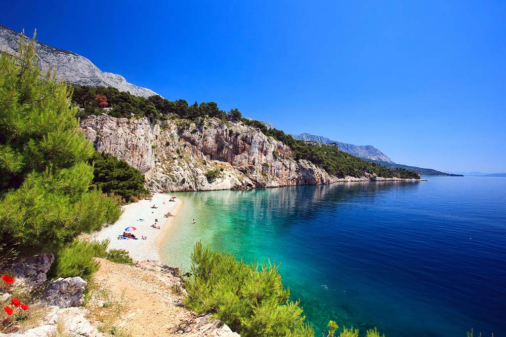 Makarska beach, Makarska, Makarska Riviera, Adriatic sea