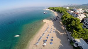 Makarska beach, Adriatic sea, Makarska, Maritimo beach